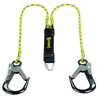 Twin Lanyard with Scaffold Hooks